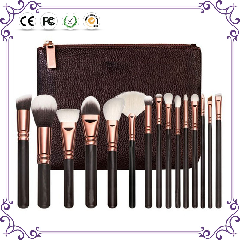 Makeup tools for personal care goat hair 15pcs cosmetic brush colored makeup brush set