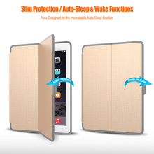For iPad Case, Auto Sleep Wake PU Flip Foldable Leather Tablet Case For new iPad 9.7, Folio Stand Cover For iPad 9.7 2017