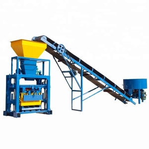 QT40-1 Great quality electric block brick making machine for making hollow concrete blocks