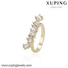 14558 xuping new fashion jewelry 14k gold fashion ring finger rings photos crystal stone rings