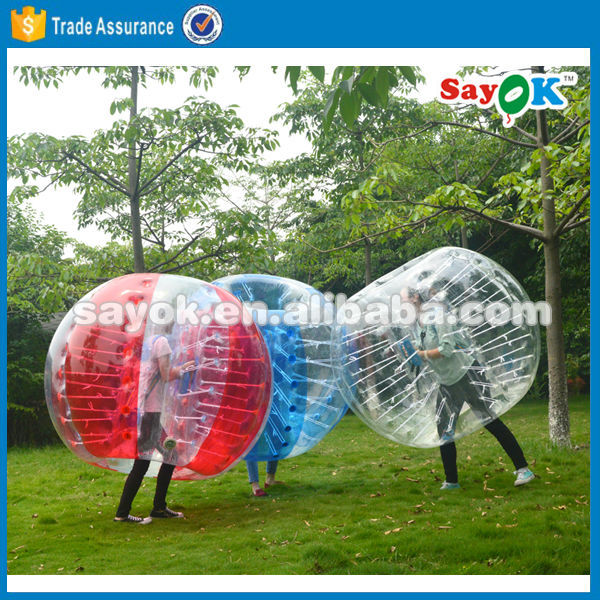 giant inflatable human soccer cheap half color tpu bubble soccer ball suit