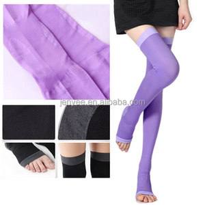 Multi colors women slim opaque nylon thigh high stockings