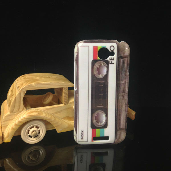 Cassette CD Camera Tape Retro Hard Case Cover for HTC ONE S