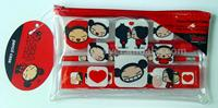 filled PVC pencil case stationery set
