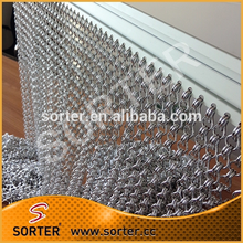 2017 good quality chain link hanging door fly screen