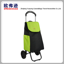 New type portable folding shopping trolley cart with telescopic handle
