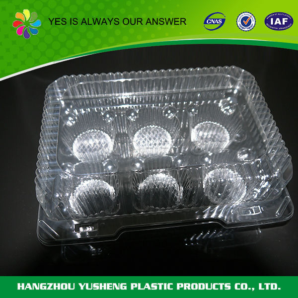 Wholesale Disposable clear plastic packaging for egg
