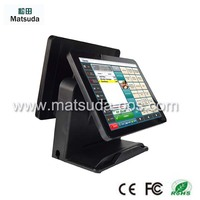 "15"" TOUCH screen capacitive restaurant pos solutions for all kinds of restaurants with MSR card reader"