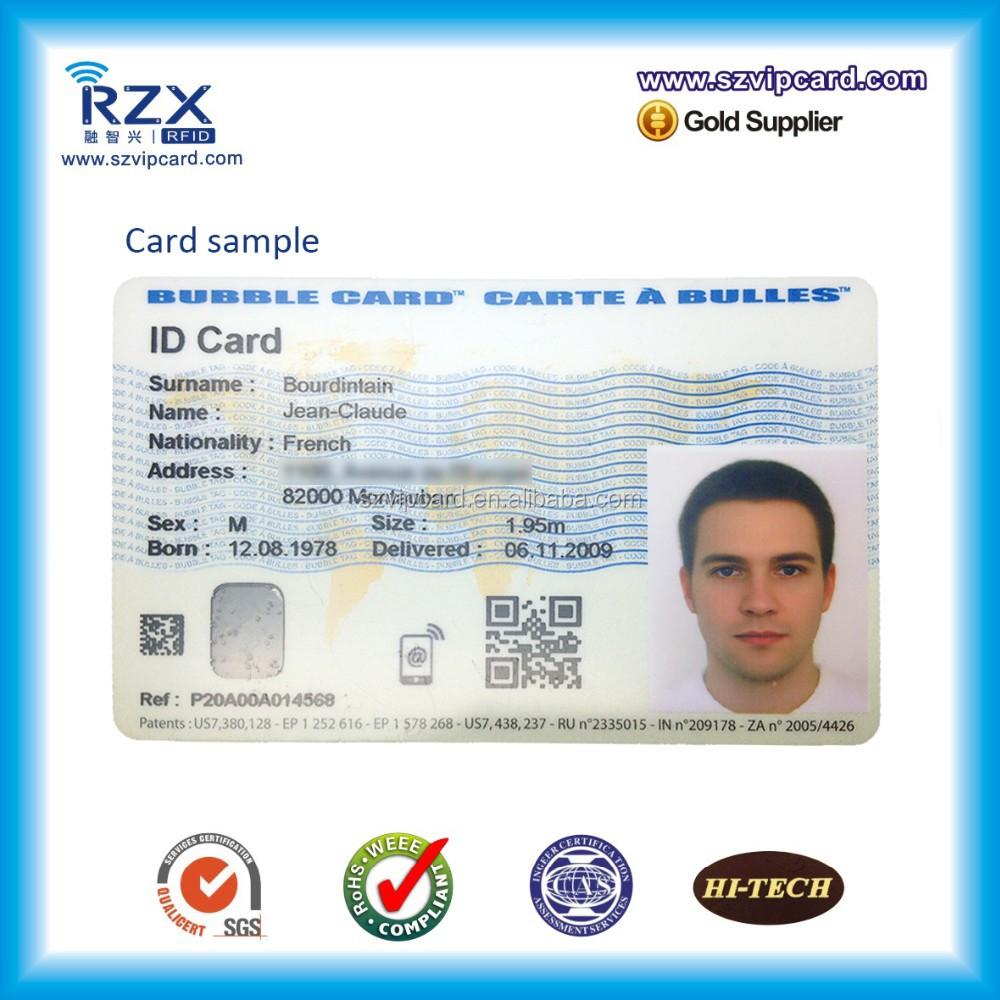 low cost PVC ID smart card customized photo id card for student