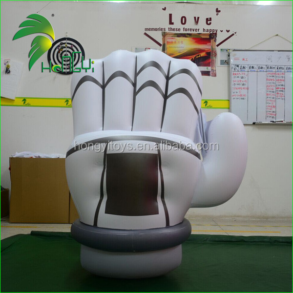 Standing Display Advertising Inflatable Hand With Glove Model / Promotion Inflatable Hand Replica