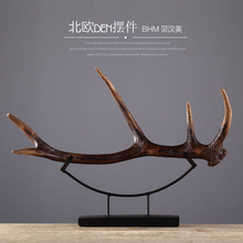 Table decorative resin artificial deer antler for wholesale