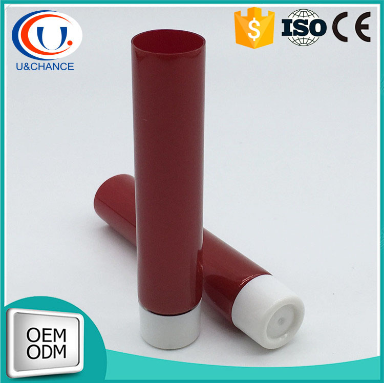 Red tube China made for cosmetic cream and lotion
