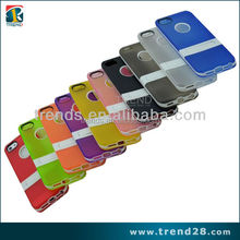 10 colors in stock matte back kickstand tpu cover case for iphone 5 5s