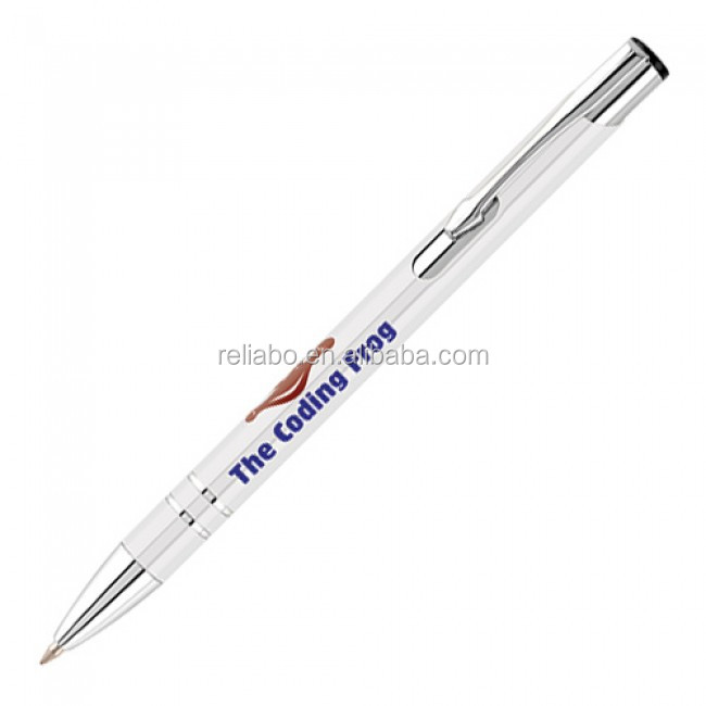 Top selling metal ball pen/advertising product/pens with logo print metal