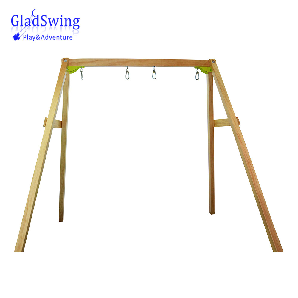 GladSwing PS007A 1.75M Length Wooden Swing frame swing stand with 4 hooks Children playground equipment