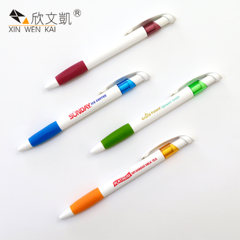China Famous Brands Press Design Custom Logo Plastic Ballpoint Pens With Custom Logo