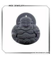 Wholesale black Rock Lava Quantum buddha Pendant With Scalar Energy