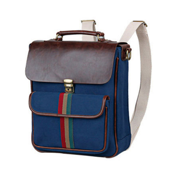 bestsale china leather Canvas small backpack bag for ladies