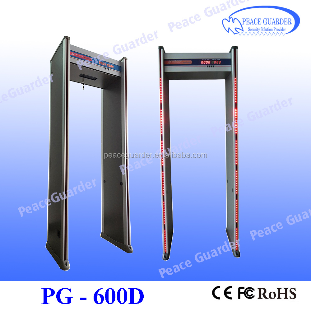pinpoint 6zone walkthrough metal detector gate, door frame metal detector PG-600D