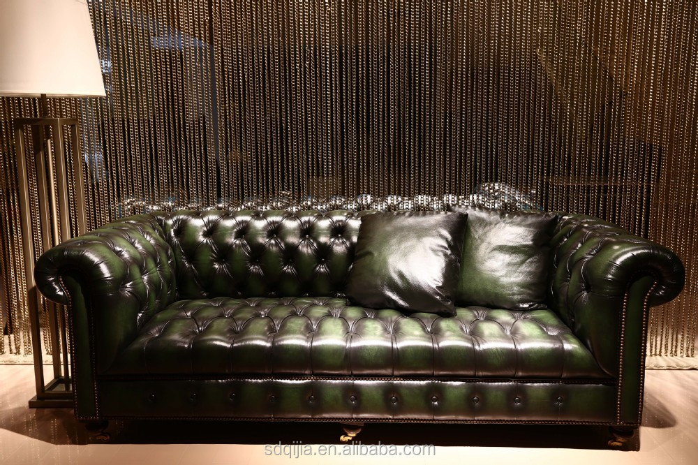 Typical Classic Chesterfield Leather Sofa