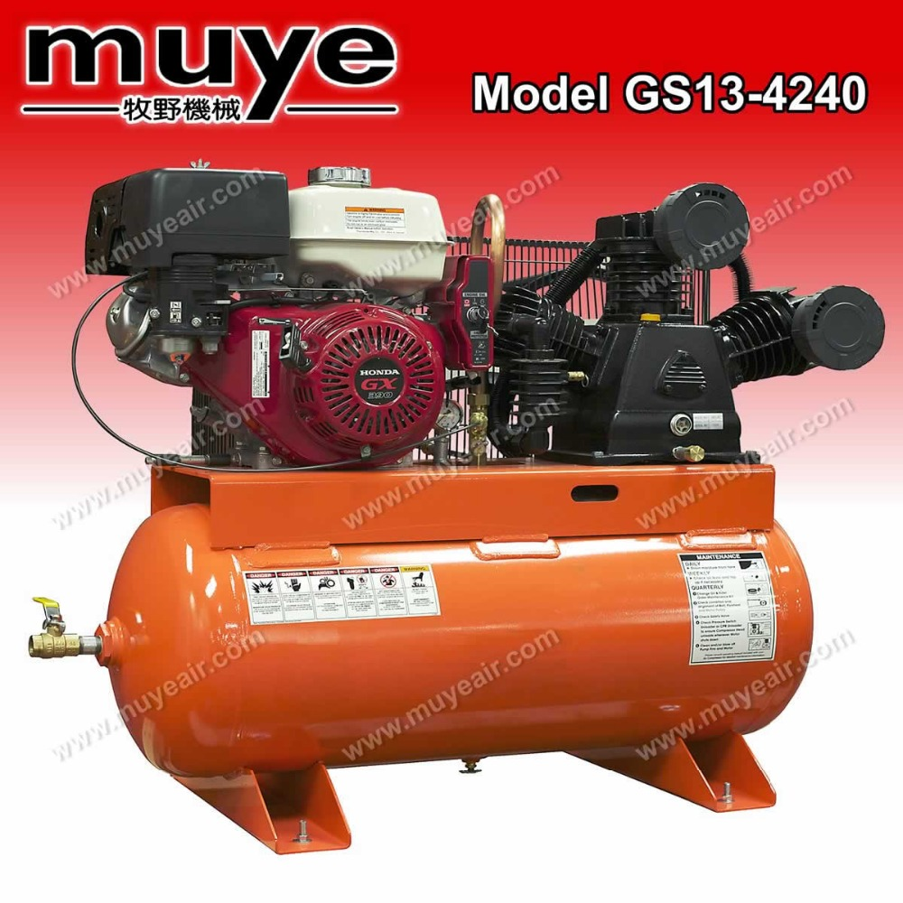 air compressor powered by petrol engine Top quality with good packing