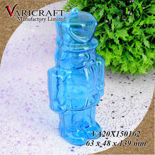 Acrylic plastic container in military style soldier shape for candy storage packaging
