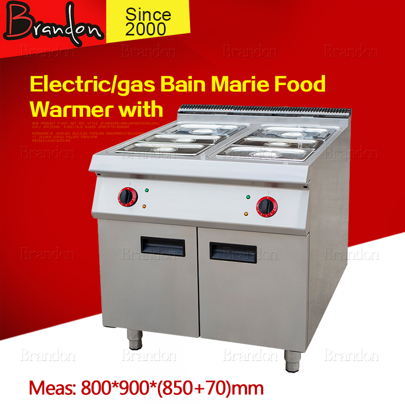 Dual energy bain marie food warmer with cabinet / 6 warmers bain marie for sale / commercial bain marie for food warm