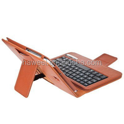 Leather Case with Bluetooth Keyboard for Samsung Galaxy Note 8.0(Brown)