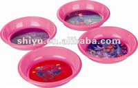Plastic dishes and plates Diameter 17cm