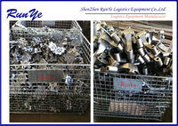 Strong hard wire mesh cage for hardware store/metal cage for parts packaging