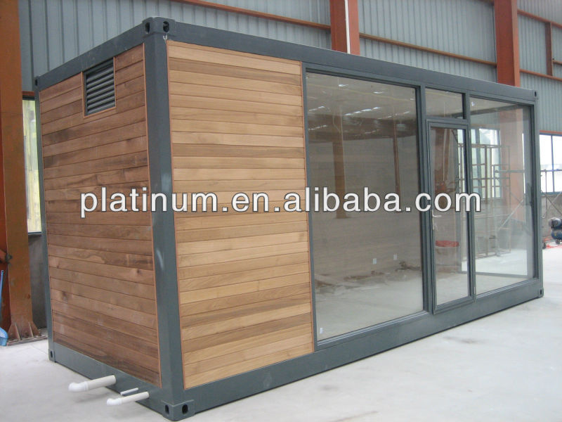 glass prefabricated kit home/container office for sale