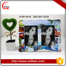 Sightseeing Theme MDF Twin Photo Frames for Birthday Gifts