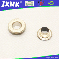 custom embrassed logo metal eyelets grommets for handbag accessories