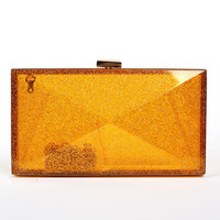 Top designer luxury transparent box clutch bags korean Acrylic clutches