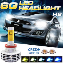 Latest Patent New Products G6 3000lm High Power H8 LED Head Light Auto