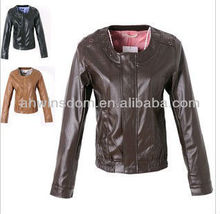 D91240S NEW WOMEN'S SMALL HOLLOW PU LEATHER COAT,WOMEN'S LONG SLEEVE JACKET