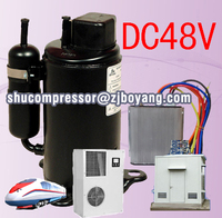 Alibaba DC 48V Compressor for electric power source and chest deep freezer type mini ice cream display freezer