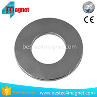 "2Pc Super Strong N48 Neodymium Magnet 2OD x 1ID x 1/8"" Permanent Magnet Ring, Powerful Rare Earth Magnets"