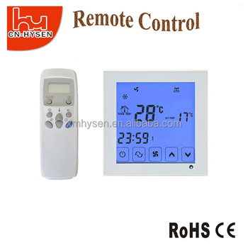 Flush Mounted Cooling Remote Control FCU Touch Screen Thermostat