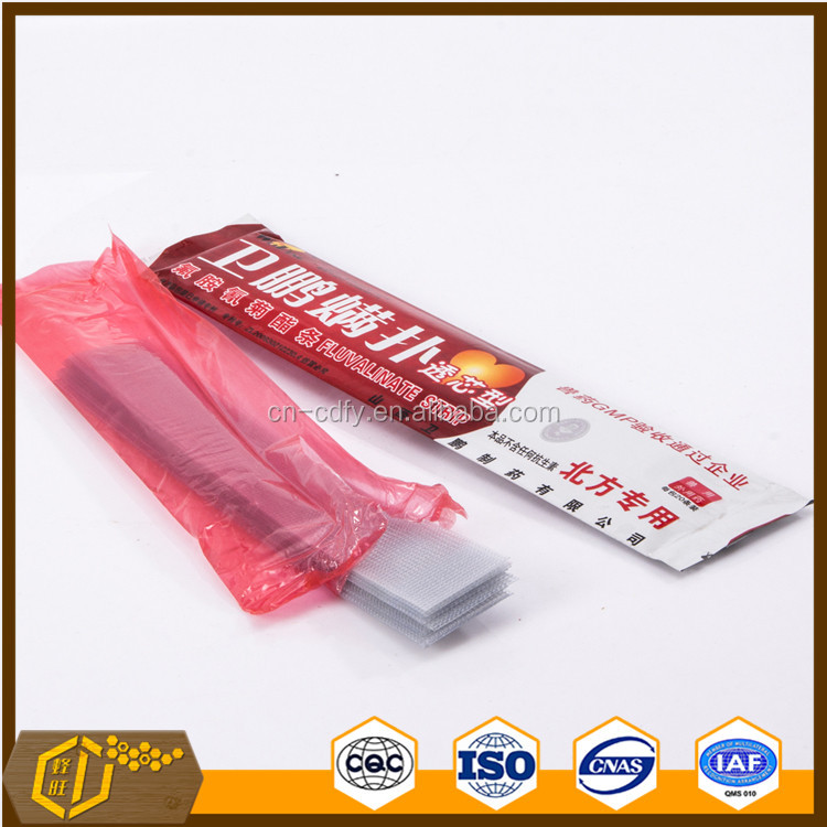 2016 Hot Sell Bee Medicine MITE KILLER fluvalinate strip for varroa