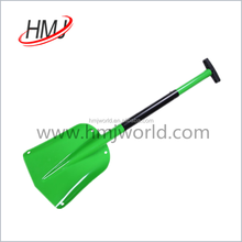 Light weight portable aluminum material snow shovel