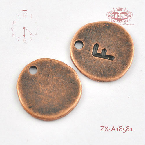 Different Designs Of Alphabets Pendant F Round Tag Shape