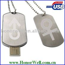 TopSale Dog Tag Usb Flash Drive for Promotion Gift