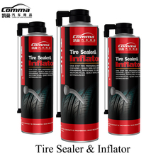 Green Non-flammable formula green automotive emergency spray tyre sealer digital tire inflator