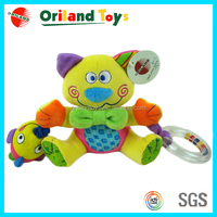 2014 oriland intelligent plush cute giraffe baby toy