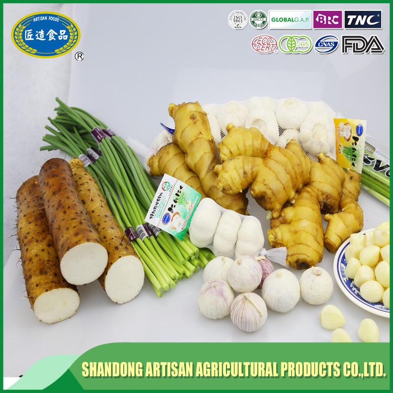 Certified gap raw fresh ginger/china ginger price pvc box