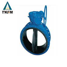 TKFM wcb cf8m ductile iron ptfe flange air compressor butterfly valve disc dn250 gear