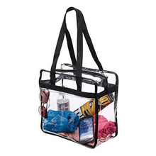 Clear Plastic Tote Bag Women Transparent Beach Shoulder Bag