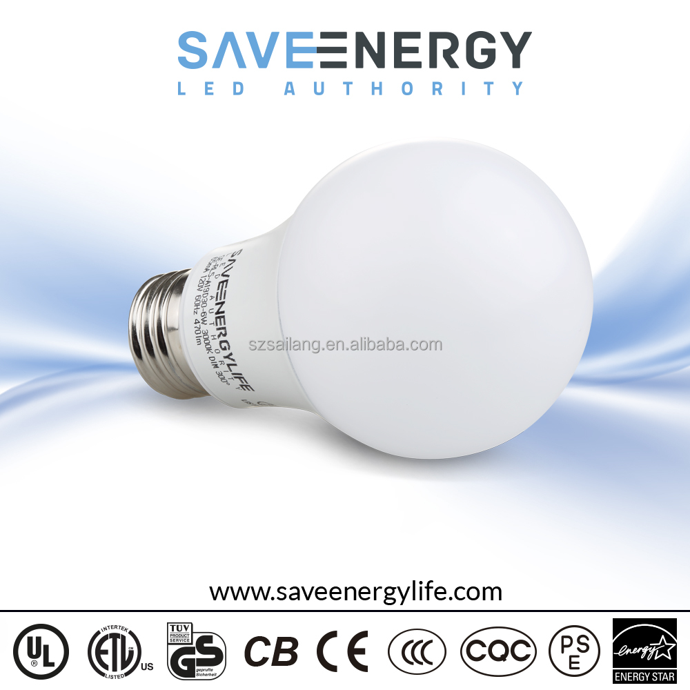 A19 Led Bulb Light, UL ES ECC certificaed bulb lights led, led bulb price