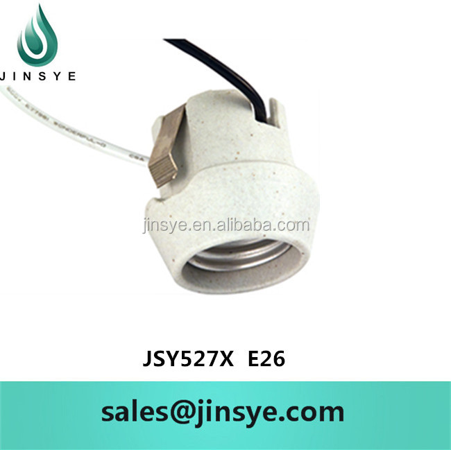 E26 Screw Bracket and Terminal Porcelain Lamp holder